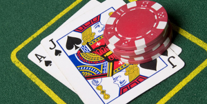 Teilen beim Blackjack
