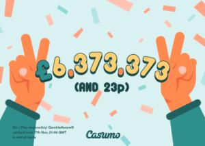 Read more about the article 6,4 Millionen Pfund im Casumo Casino gewonnen