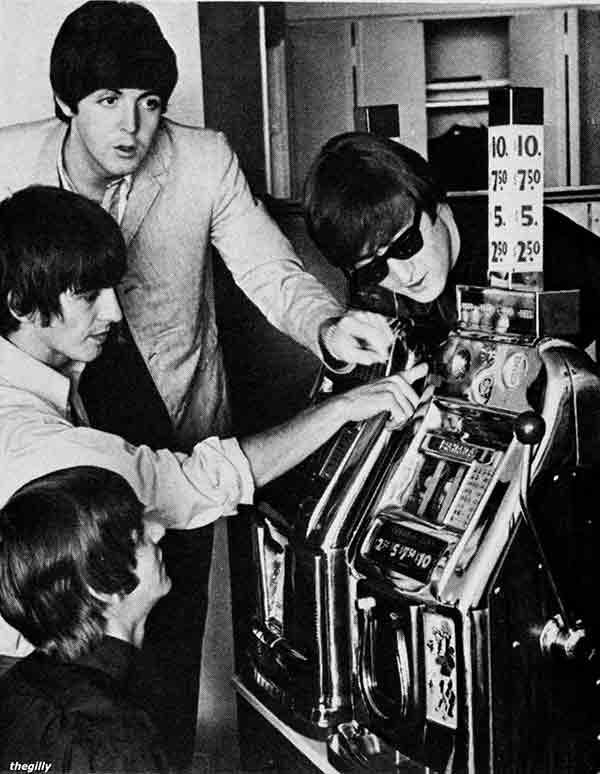 Beatles spielen auf Slot