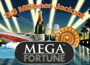 Read more about the article Mega Fortune Jackpot,  neuer 3,5 Millionen Euro Megagewinn