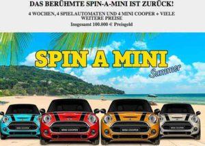 Read more about the article Die Spin A Mini Promotion -gewinnen Sie einen Mini One