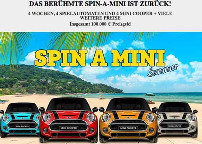 You are currently viewing Die Spin A Mini Promotion -gewinnen Sie einen Mini One