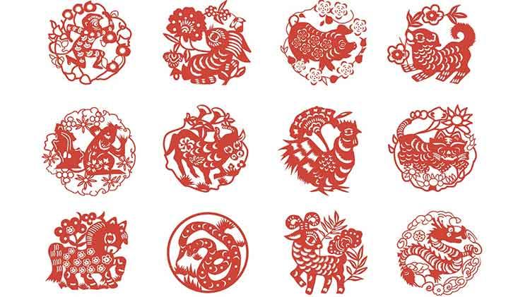 Chinesische Glückssymbole, Tierkreiszeichen
