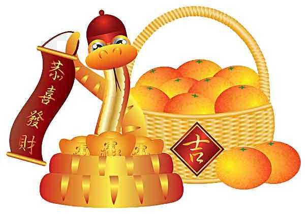 chinesische Glücksbringer Orange
