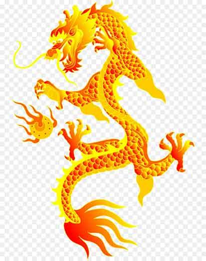 chinesische Glücksbringer Puloa Drache